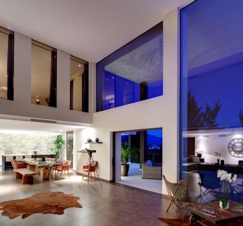 Luxury interior of a living area in a resales villa in luxury Marbella