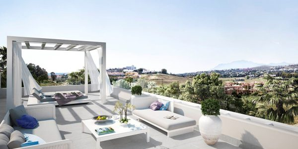 Roof-terrace-luxury-off-plan-apartments-for-sale-golf-atalaya-marbella-costa-del-sol-new