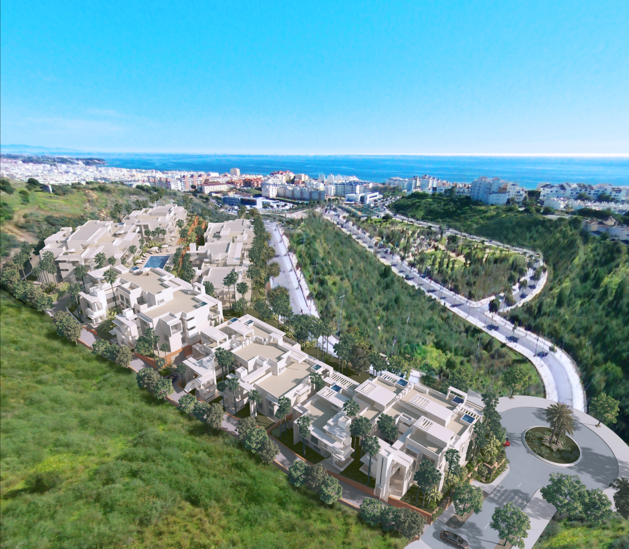 Bella Capri Apartments: Views-Estepona-apartments-for-sale-Marbella-New-Costa-del